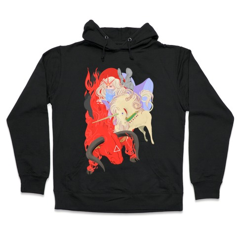 The Last Unicorn and the Red Bull Hooded Sweatshirt