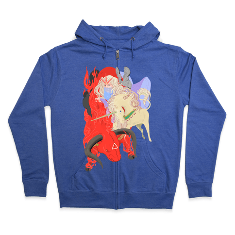 The Last Unicorn and the Red Bull Zip Hoodie