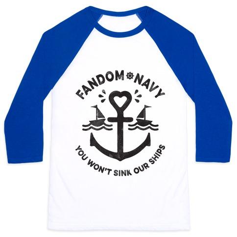 Fandom Navy Baseball Tee