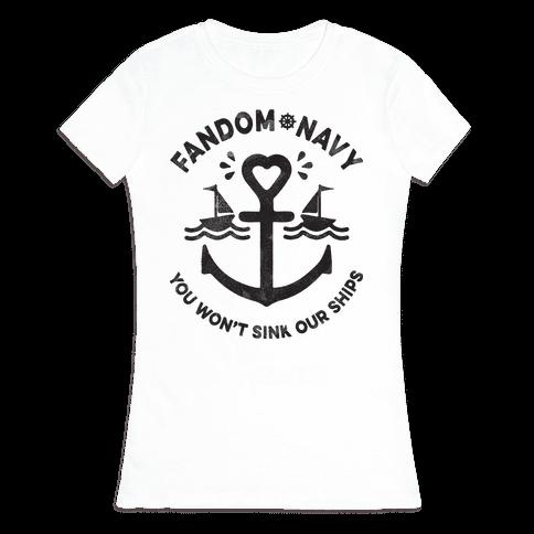 Fandom Navy Womens T-Shirt