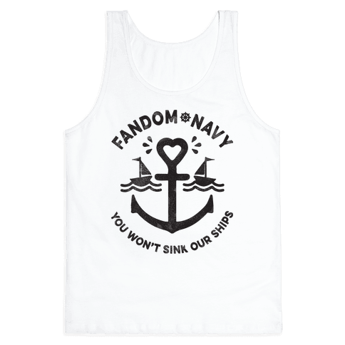 Fandom Navy Tank Top