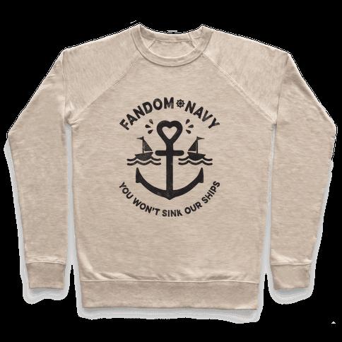 Fandom Navy Pullover