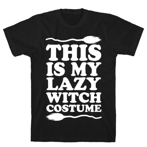 This Is My Lazy Witch Costume Mens T-Shirt