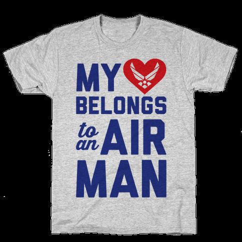 My Heart Belongs To An Airman Mens T-Shirt