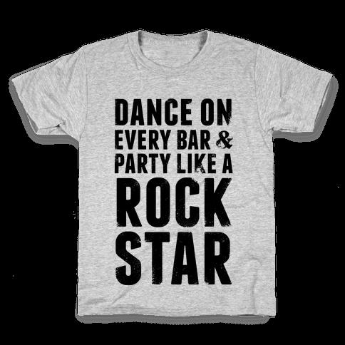 Party Like A Rock Star Kids T-Shirt