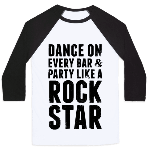 Party Like A Rock Star Baseball Tee