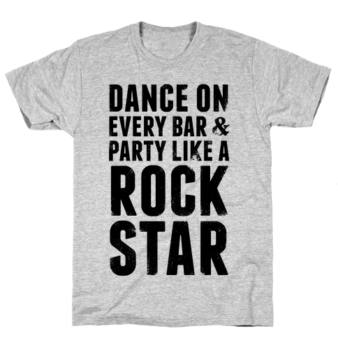Party Like A Rock Star Mens T-Shirt