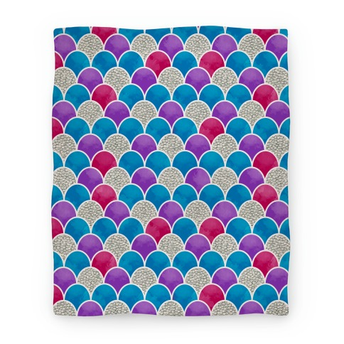 Rainbow Fish Scales Pattern Blanket