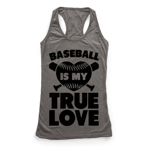 Baseball is my True Love (black) Racerback Tank Top