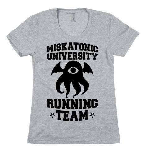 Miskatonic University Running Team Womens T-Shirt