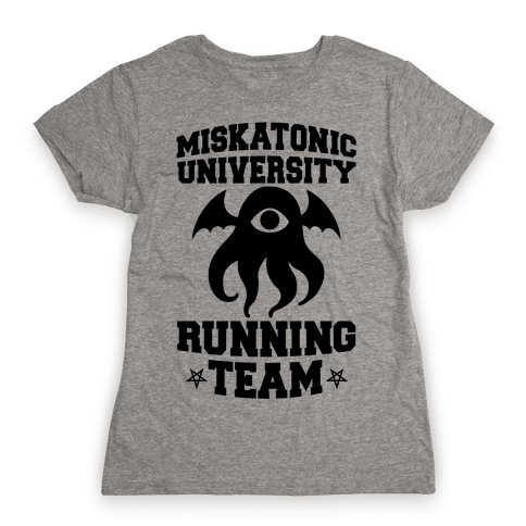Miskatonic University Running Team Womens T-Shirt