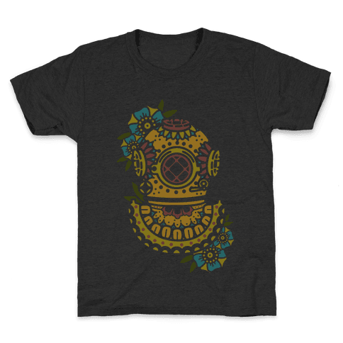 Floral Diving Helmet Kids T-Shirt