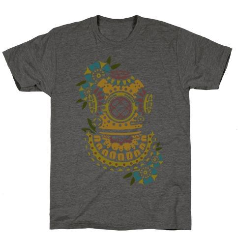 Floral Diving Helmet T-Shirt