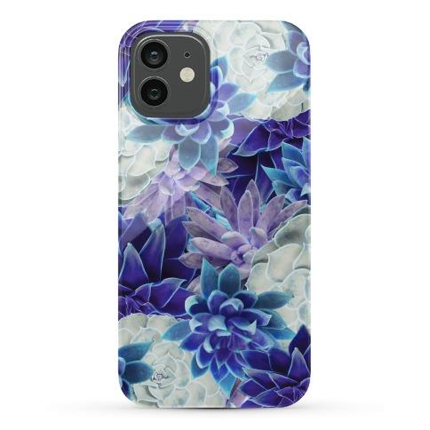 Blue Succulent Phone Case