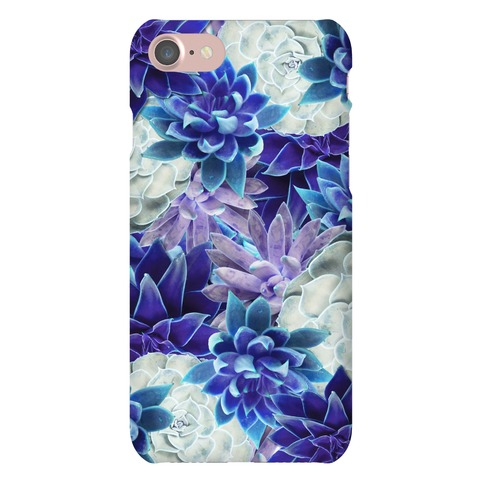 Blue Succulent Phone Case