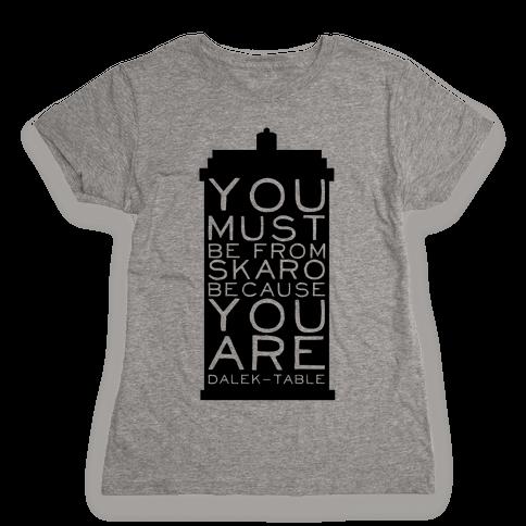 Doctor Pick Up (Tardis) Womens T-Shirt