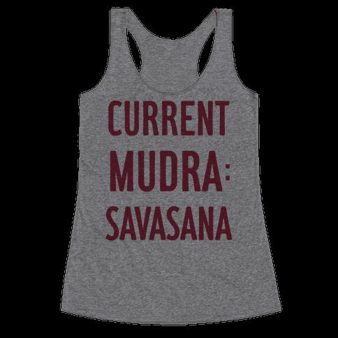 Current Mudra: Savasana Racerback Tank Top