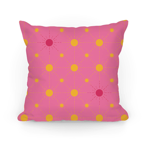 Sunshine Diamond Pink Pattern Pillow