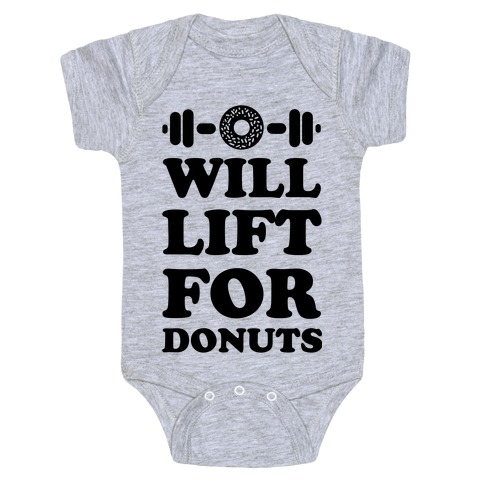 Will Lift For Donuts Baby Onesy