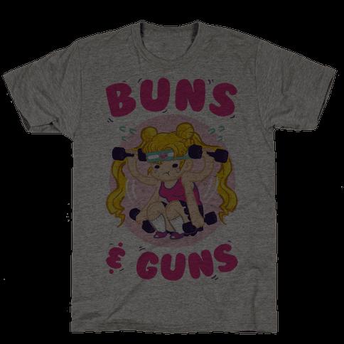 Buns & Guns Mens T-Shirt