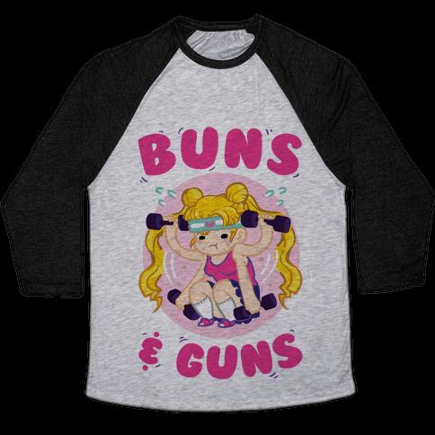 Buns & Guns Baseball Tee