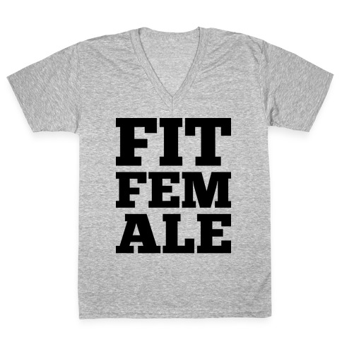 Fit Female V-Neck Tee Shirt