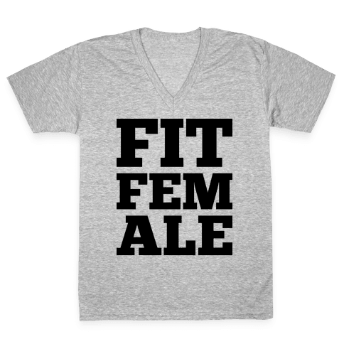 Fit Female V-Neck Tee Shirt