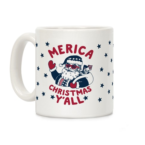 Merica Christmas Y'all Coffee Mug