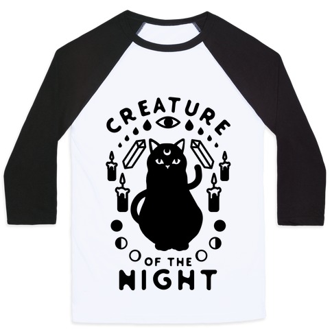 Creature of the Night Baseball Tee