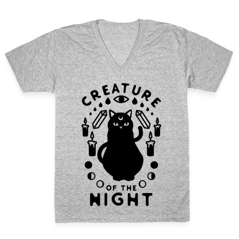 Creature of the Night V-Neck Tee Shirt