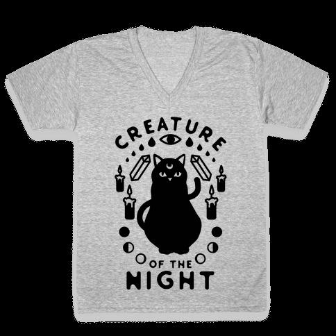 Creature of the Night V-Neck Tee Shirt