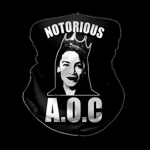 Notorious AOC (Alexandria Ocasio-Cortez) Neck Gaiter
