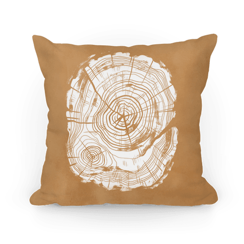 Tree Growth Rings Pillow