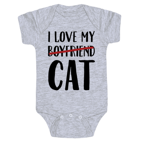 I Love My Boyfriend (Cat) Baby Onesy
