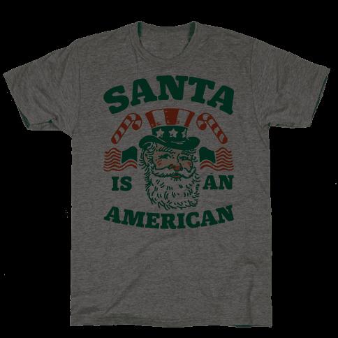 Santa Is An American Mens T-Shirt