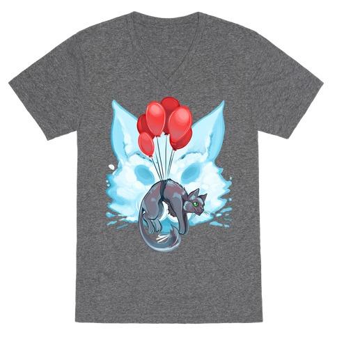 85dd8743d8a6e Hot Air Balloon Canvas Art Flexicase V-Neck Tee Shirts
