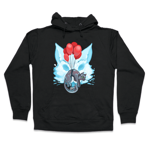 Red Balloon Cat Explorer Hooded Sweatshirt