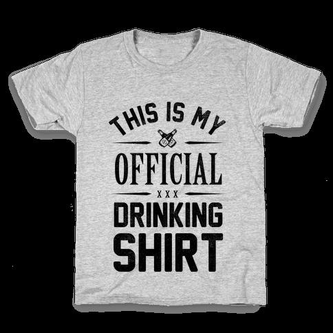 My Official Drinking Shirt Kids T-Shirt
