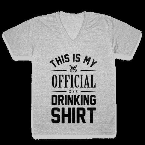 My Official Drinking Shirt V-Neck Tee Shirt