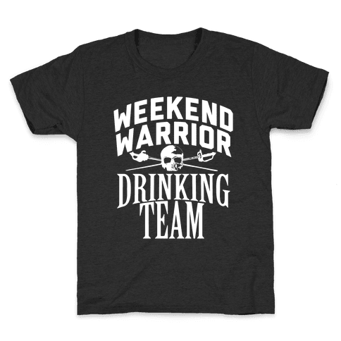 Weekend Warrior Drinking Team Kids T-Shirt