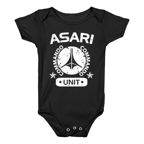 Asari Commando Unit Baby Onesy