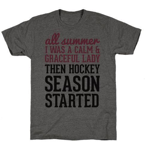 ...Then Hockey Season Started Mens T-Shirt