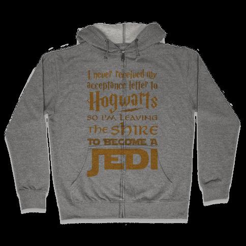 Hogwarts Shire Jedi Zip Hoodie
