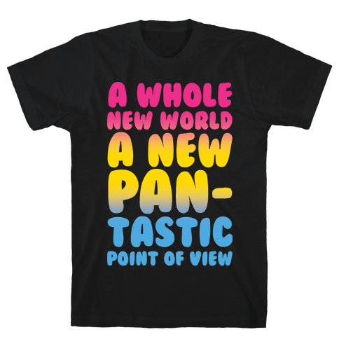 A New Pantastic Point of View Parody White Print Mens T-Shirt