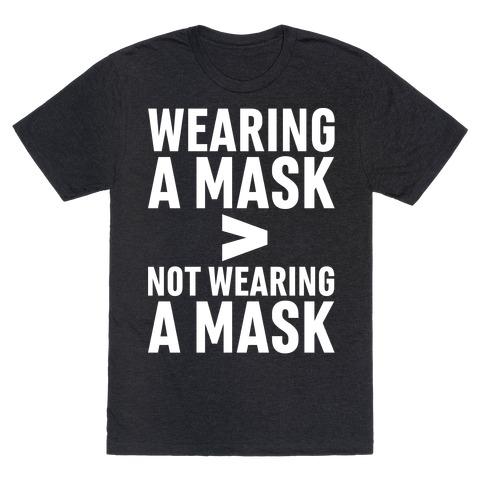 Wearing A Mask > Not Wearing A Mask White Print T-Shirt