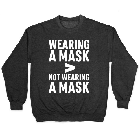 Wearing A Mask > Not Wearing A Mask White Print Pullover
