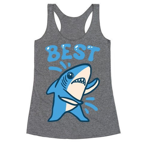 Best Friend Sharks (Part 1) Racerback Tank Top