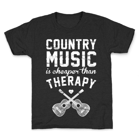 Country Music Therapy Kids T-Shirt