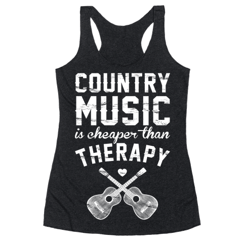 Country Music Therapy Racerback Tank Top