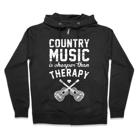 Country Music Therapy Zip Hoodie